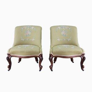 Antique Nursing Chairs, Set of 2