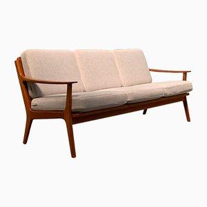 Dänisches Mid-Century Sofa mit Gestell aus Teak, 1960er