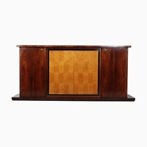 Art Deco Italian Rosewood & Birdseye Maple Sideboard
