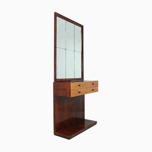 Table Console Art Déco avec Miroir, Italie