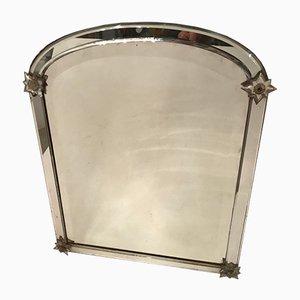 Antique Italian Mirror with Murano Glass Flowers