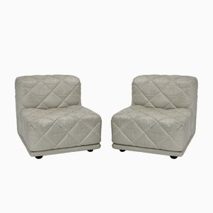 Vintage White Rhombos Lounge Chairs from Franz Wittmann, 1970s