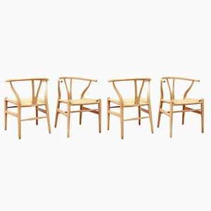 Modell CH24 Wishbone Stühle von Hans Wegner für Carl Hansen & Son, 1960er, 4er Set
