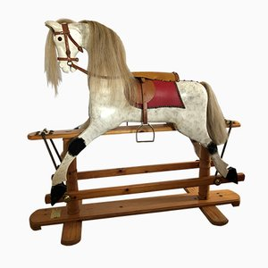 Vintage Wooden Rocking Horse from T. Rimmer, 1990s