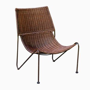 Wicker Armchair by Frederick Weinberg, 1950s