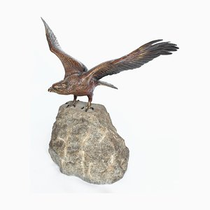 Vintage Eagle On A Rock by Franz Xavier Bergman