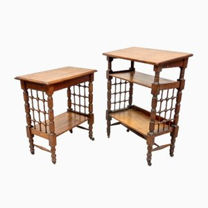Antique Oak Bookstands by Leonard Wyburd for Liberty & Co, Set of 2