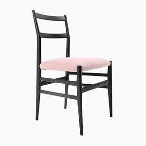 Black & Pink Leggera Chair by Gio Ponti for Cassina, 1950s