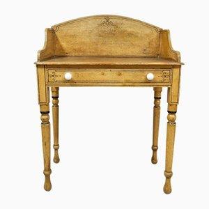 Mesa auxiliar antigua pintada