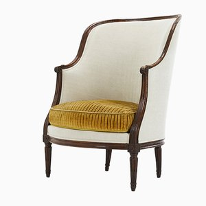 Französische Sessel mit Gestell aus Nussholz,, 18. Jh., 2er Set