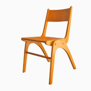 Niederländischer Vintage Beistellstuhl aus Birke