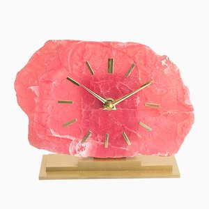 Brutalistische Uhr aus Achat, 1960er