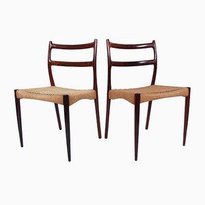 Chaises de Salle à Manger par Søren Ladefoged pour SL Mobler, Danemark, 1950s, Set de 4