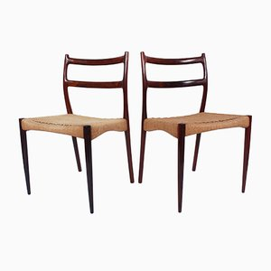 Danish Dining Chairs by Søren Ladefoged for SL Mobler, 1950s, Set of 4