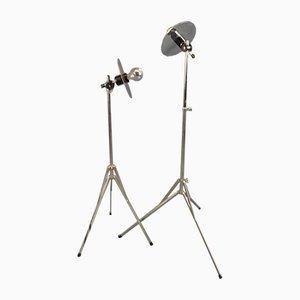 Minimalistische Stehlampe, 1970er