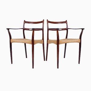 Dänische Esszimmerstühle von Søren Ladefoged für SL Mobler, 1950er, 2er Set