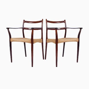 Danish Dining Chairs by Søren Ladefoged for SL Mobler, 1950s, Set of 2