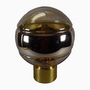 Goldene kugelförmige Tischlampe von Peill & Putzler, 1970er