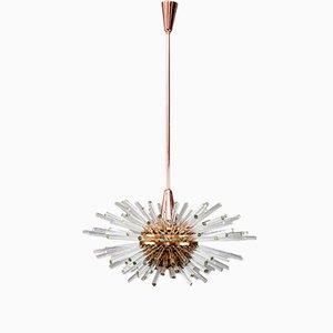 Lámpara de araña Sputnik Miracle vienesa de Bakalowits, años 60