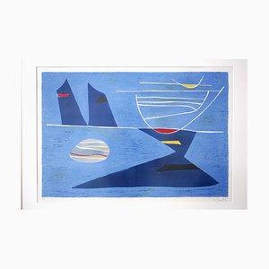 Lithographie Entre Ciel et Mer Mid-Century par Gustave Singier, 1950s