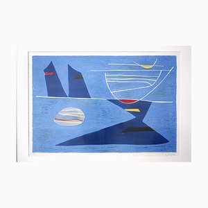 Litografia Entre Ciel et Mer Mid-Century di Gustave Singier, anni '50
