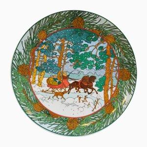 Assiette Décorative Forêt d'Hiver par K. Blume pour Villeroy & Boch, 1970s