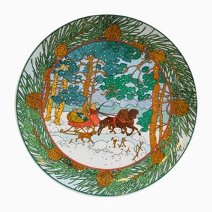Winter Forest Decorative Plate by K. Blume for Villeroy & Boch, 1970s