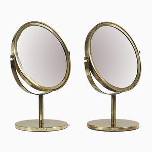 Espejos de mesa suecos de Hans-Agne Jakobsson, años 60. Juego de 2