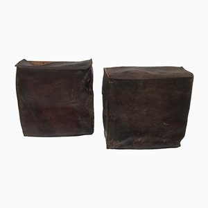 Leather Storage Baskets, 1960s, Set of 2