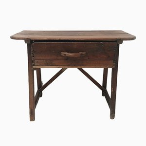 Antique Spanish Chestnut Console Table
