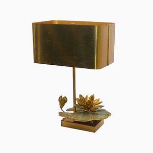 Lámpara de mesa vintage con nenúfar de Maison Charles