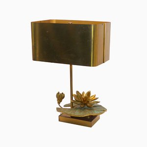 Vintage Water Lily Table Lamp from Maison Charles