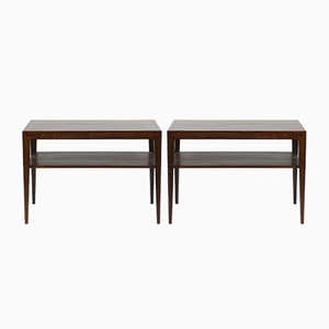 Mid-Century Side Tables by Severin Hansen for Haslev Møbelsnedkeri, Set of 2