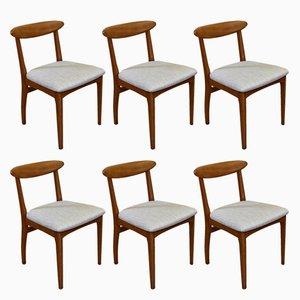 Mid-Century Esszimmerstühle aus Teak, 1960er, 6er Set