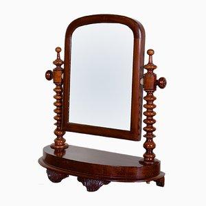 Antiker Spiegel mit Rahmen aus Mahagoni, 1880er