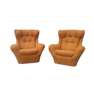 Vintage Lounge Chairs from Steiner, Set of 2