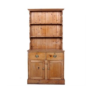 Antique Rustic Carved Pine Dresser