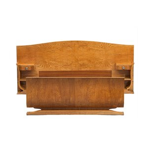 Lit Double Art Déco avec Tables de Chevet, 1930s