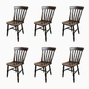 Chaises de Cuisine Windsor Antiques, Set de 6