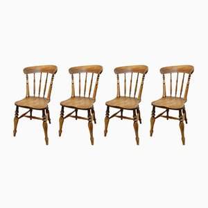 Antique Kitchen Chairs, Set of 4
