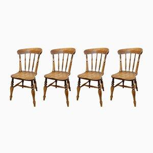 Chaises de Cuisine Antiques, Set de 4
