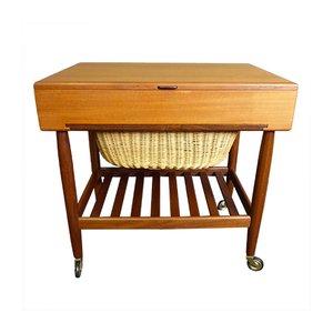 Mesa de costura vintage de Ejvind Johansson para Vitré, años 60
