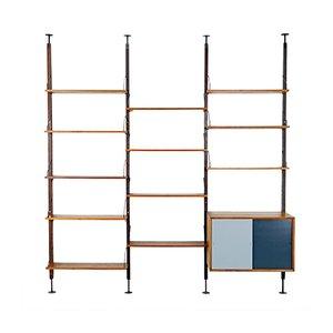 Unidad de pared modular de nogal de Poul Cadovius para Cado, años 60