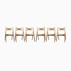 CH29 Dining Chairs by Hans J Wegner for Carl Hansen & Son, 1950s, Set of 6