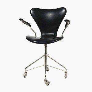 Silla de escritorio 3217 de Arne Jacobsen para Fritz Hansen, años 50