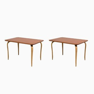 Annika Side Tables by Bruno Mathsson for Firma Karl Mathsson, 1960s, Set of 2