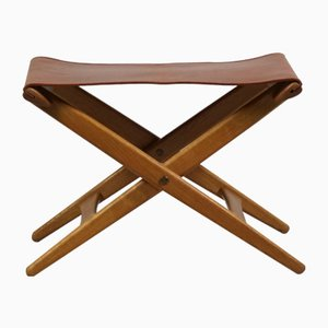 Folding Stool by Östen Kristiansson for Luxus, 1960s
