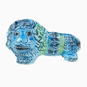 Lion Vintage en Céramique de Rimini par Aldo Londi pour Bitossi