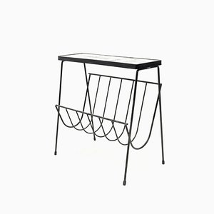 Side Table with Newspaper Rack by Juliette Belarti, 1960s