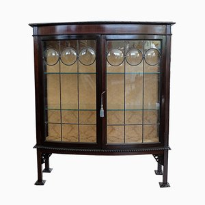 Antique British Mahogany Display Cabinet, 1890s